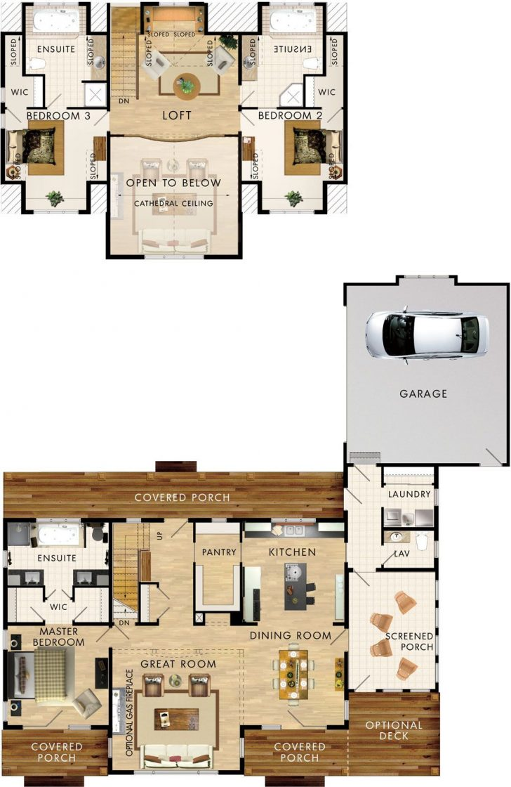 Lake House Plans with Loft 2021