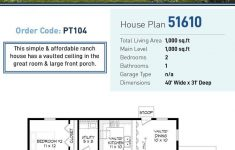Large Simple House Plans Fresh Ranch Style House Plan With 2 Bed 1 Bath