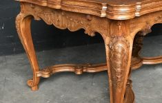 Louis Xv Antique Furniture Unique Antique Louis Xv Oak Carved Dining Table And Two Armchairs