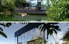 Modern Glass Houses Architecture Beautiful Modern Glass Lake House Architecture 836 03