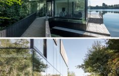 Modern Glass Houses Architecture New Modern Glass Lake House Architecture 836 02