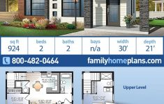 Modern Home House Plans New Modern Style House Plan With 2 Bed 2 Bath In 2020