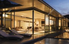 Modern House At Night Inspirational Modern House Illuminated At Night Time — Real Estate