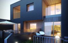 Modern House At Night New Modern House At Night Notriangle 3d Rendering Studio