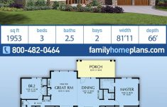 New Ranch Style House Plans New Ranch Style House Plan With 3 Bed 3 Bath 2 Car