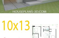 One Floor House Design Plans 3d Best Of House Design 10x13 With 3 Bedrooms Full Plans House Plans 3d
