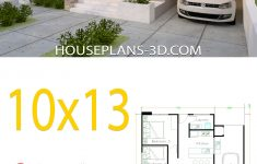 One Floor House Design Plans 3d Lovely House Design 10x13 With 3 Bedrooms Full Plans House Plans 3d