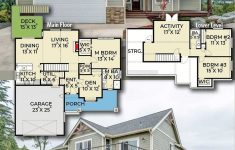 One Story Lake House Plans Awesome Plan Jwd 3 Bedroom Craftsman House Plan With Den And