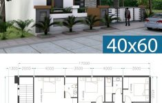 One Story Modern Home Plans Lovely E Story House Plan 40x60 Sketchup Home Design