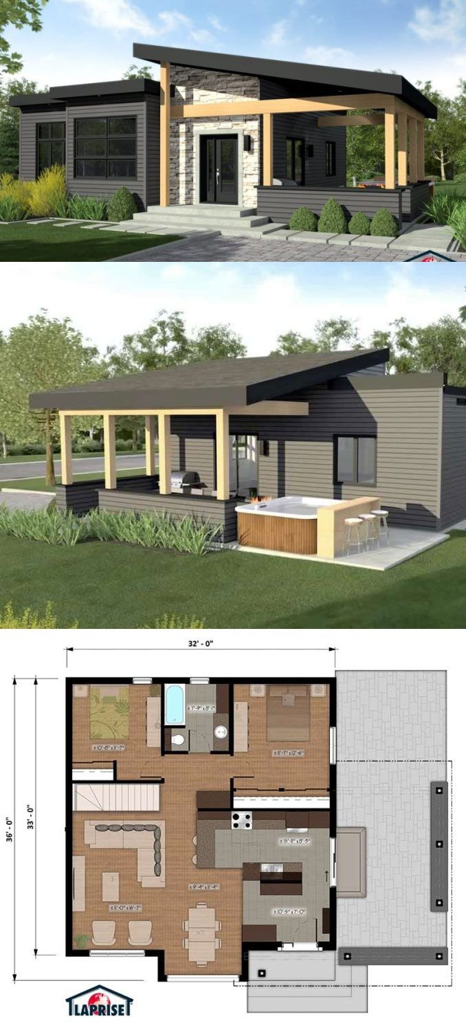 One Story Modern Home Plans 2020