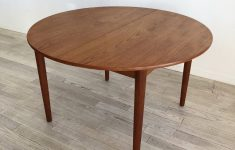 Refinishing Teak Dining Table Lovely Mid Century Danish Teak Circle Dining Table With Leaves Refinished