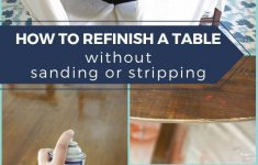 Restore Antique Furniture Without Refinishing Awesome How To Refinish A Table Without Sanding & Stripping