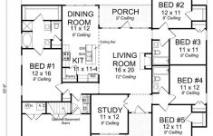 Side Split Level House Plans New Traditional 5 Bedroom 3 Bath Craftsman With Office