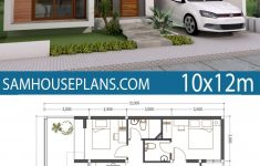 Simple Model House Design Inspirational Home Plan 10x12m 3 Bedrooms In 2020