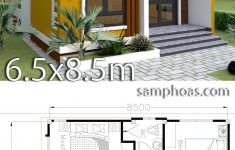 Simple Model House Design New Small Home Design Plan 6 5x8 5m With 2 Bedrooms