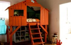 Tree House Bunk Bed Plans Fresh Diy Childrens House Bed Loft