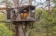 Treetop Cabins Texas Luxury Nature Lovers Can Soak In A Beautiful Tub In A Treehouse In