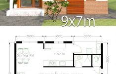 Two Bedroom House Design Unique Plan 3d Home Design 9x7m 2 Bedrooms