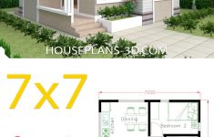 Two Bedroom House Design Unique Small House Design 7x7 With 2 Bedrooms