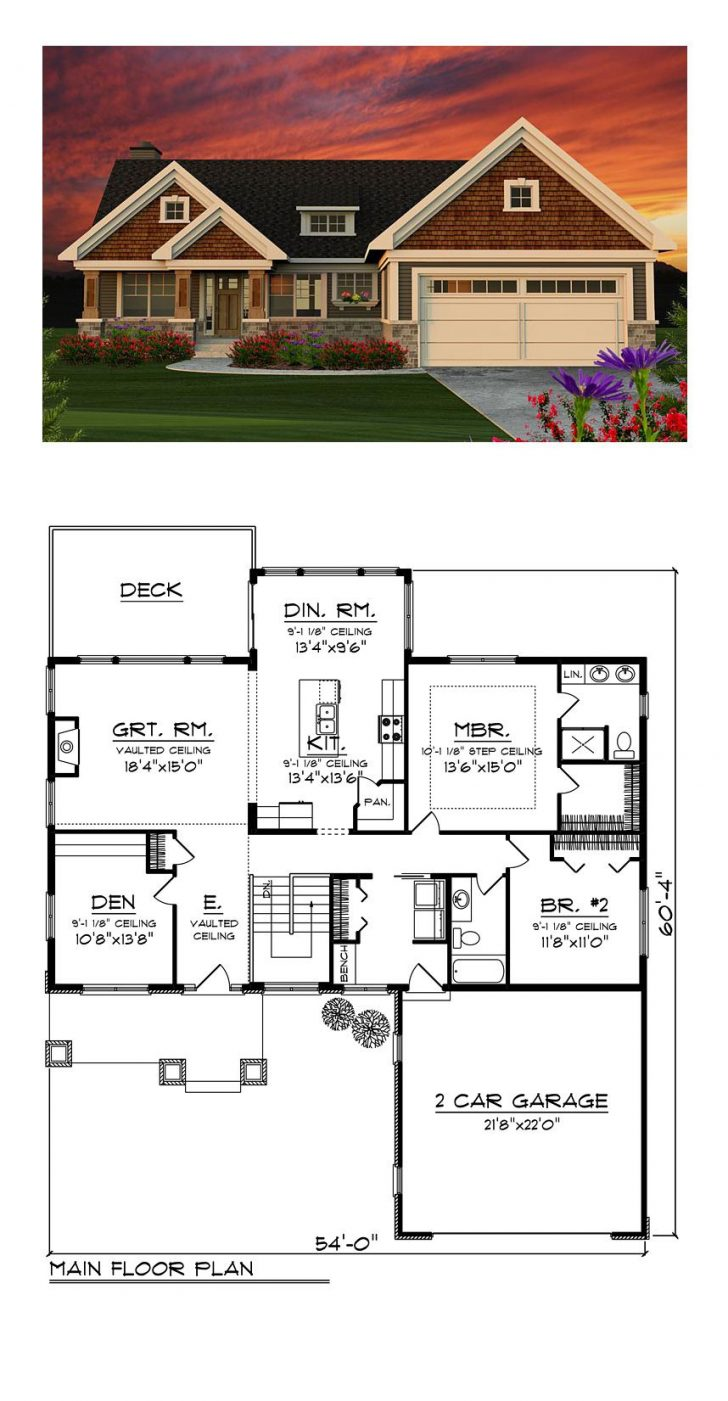 Two Bedroom House Plans with Garage 2021