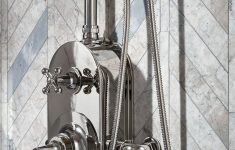 "Up Flush Shower System Elegant Dash Exposed Thermostatic Shower System With 8"" Shower Head"