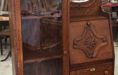 Vintage And Antique Furniture Beautiful Vintage Oak Side By Side Antique Furniture Desk Curio