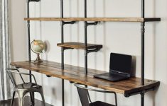 Wall Mounted Desk Canada Inspirational 49 Wall Mounted Desks Built With Pipe