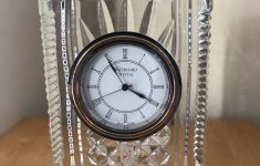 "Waterford Crystal Clocks For Sale Beautiful Waterford Clear Crystal 7"" Atrium Clock — Very Nice"
