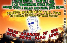 Wave House Happy Hour Awesome Wave Karaoke Tonight With Alan Lusk 6pm Deckerz Bar And