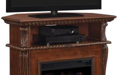 "Well Universal Electric Media Fireplace Elegant Classic Flame 23de1447 W502 Corinth Wall Or Corner Tv Stand For Tvs Up To 47"" Burnished Walnut Electric Fireplace Insert Sold Separately"