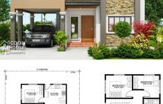 Www House Design Plan Com Inspirational Home Design Plan 11x14m With 4 Bedrooms