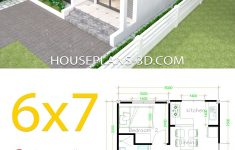 2 Bhk House Plan Design Inspirational House Design 6x7 With 2 Bedrooms