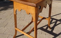 Antique Arts And Crafts Furniture Elegant Arts & Crafts Oak Lamp Table With Inlay Antiques Atlas