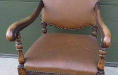 Antique Furniture Online Auctions Lovely Oak Framed Leather Upholstered Armchair