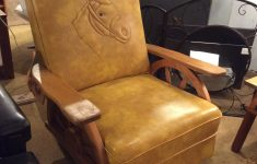 Antique Wagon Wheel Furniture Beautiful Vintage Western Horse Recliner Sold