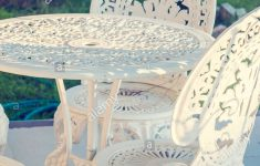 Antique Wrought Iron Furniture New Vintage Wrought Iron Garden Table And Chairs In A Garden