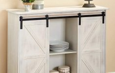 Barn Door Cabinet Lovely The Lakeside Collection Barn Door Sideboard Buffet Cabinet With Distressed White Finish