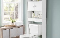 Bathroom Cabinet Doors Best Of Details About Bathroom Storage White Over The Toilet Space Saver 3 Shelves Cabinet Doors Wood