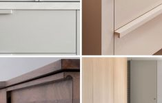 """Cabinet Door Pulls Unique Is """"no Hardware"""" The New Hardware Trend For Kitchens"""