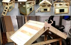 Cat House Building Plans Awesome Diy Wood Pallet Cat House