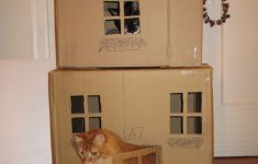 Cat House Building Plans Lovely 2 Story Cat House I Made From Cardboard Boxes