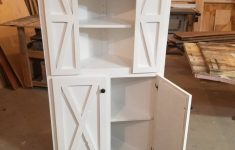 Corner Cabinet With Doors Unique Handcrafted Farmhouse Modern Rustic Corner Cabinet With Barn Doors