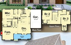 Cottage House Plans With Garage Unique Plan Dj 3 Bed Euro Brick Cottage House Plan With
