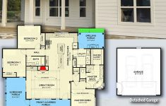 Country Style House Plans With Porches New Plan Jj 3 Bed Farmhouse With Detached 2 Car Garage