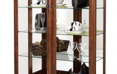 Curio Cabinets With Glass Doors Elegant Amish Traditional Two Door Glass Curio Cabinet