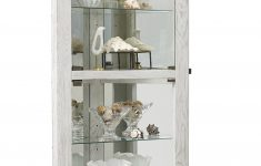Curio Cabinets With Glass Doors Lovely Lowder Dual Door 5 Shelf Lighted Corner Curio Cabinet