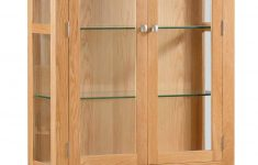 Display Cabinet With Glass Doors Awesome Dorset Oak Display Cabinet With Glass Doors And Sides