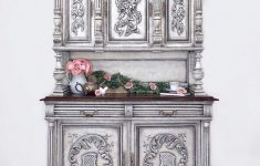 Furniture Buffets Sideboards Antiques Awesome Antique China Hutch Buffet Sideboard Hand Painted Old World Stucco Faux Finish