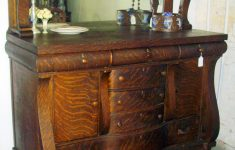 Furniture Buffets Sideboards Antiques Elegant Gorgeous Early American Tiger Oak Sideboard Beautiful