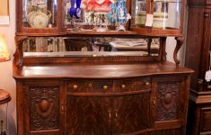 Furniture Buffets Sideboards Antiques New Antique Oak Sideboard Buffet With Fancy Curio Cabinets
